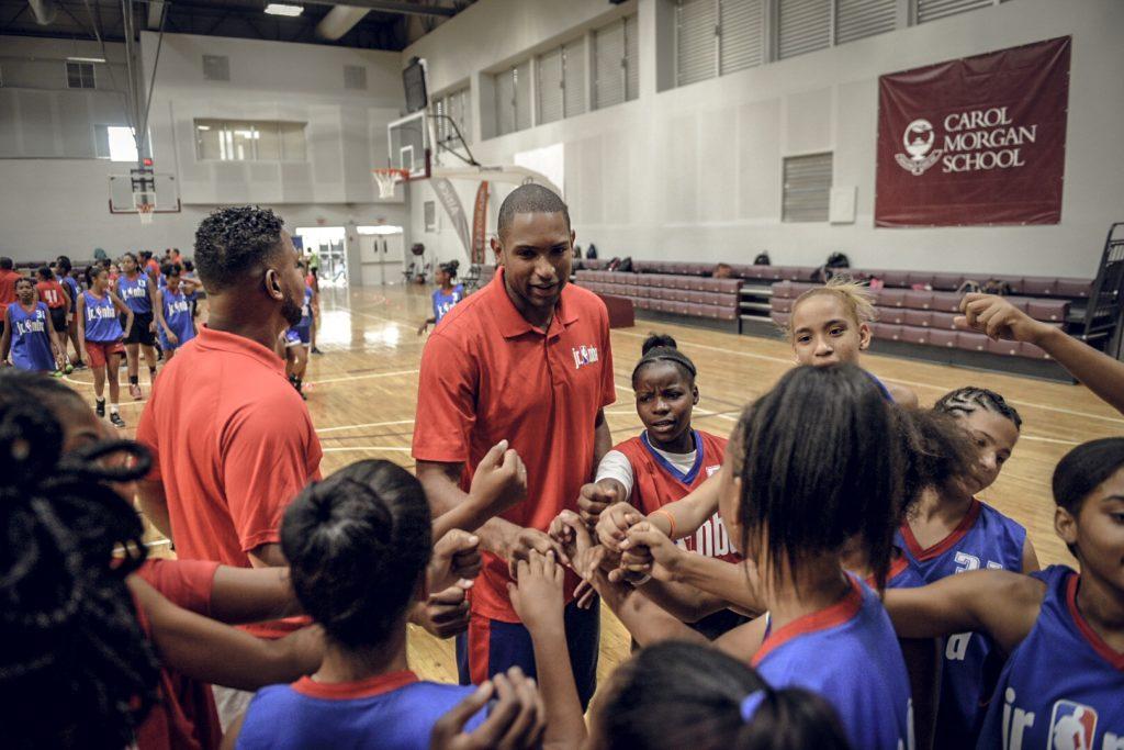 Pregame at Jr. NBA Dominican Republic Basketball Camp.