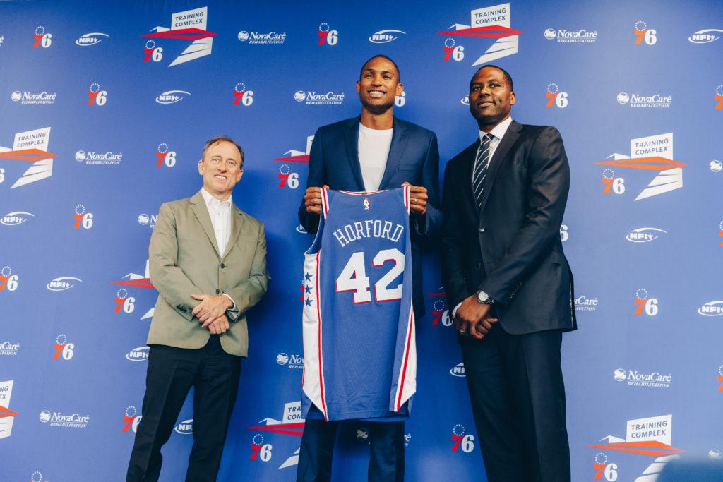 Philadelphia 76ers introduce Al Horford.